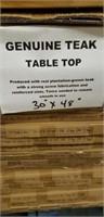 "Genuine Teak Table Top 30"" X 48"" Rectangle Qty 20"