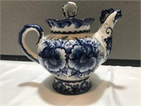Gzhel Porcelain Tea pitcher From   Russia
