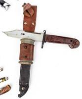 Lot of 17 Assorted Pocket Knives and Bayonets