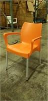 Domenica Arm Chair- Orange -Qty 64