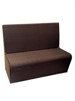 Villa Booth Low Bench 2 seater, black -Qty 4