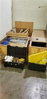 Trade show crates, display structure, assorted