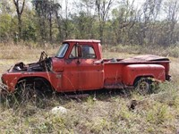Vintage Red Chevrolet Truck AS-IS