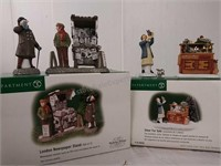 Department 56 London newspaper stand set of 2