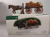 Department 56 Gourmet chocolates delivery wagon