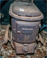 Antique Tar Heel Cast Iron Wood Stove
