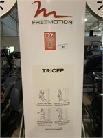 Free Motion Tricep Selectorized Station