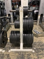 Olympic Weight Trees with Rubber Plates