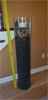 Large Ornate Candleholder & Metal Stand