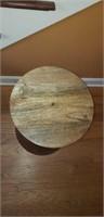 Super Pier 1 Imports Round Wooden Drum Table