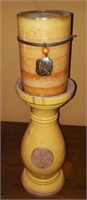 Pottery Candlestand & Ginger Peach Candle