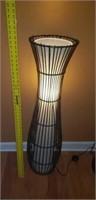 Nice Rattan & Canvas Floor Lamp