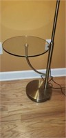 Nice Modern Floor Lamp Glass Shelf