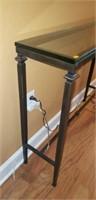 Thick Glass Top Metal Hall Table