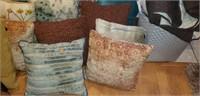 Huge lot of Pillows Blankets Basket