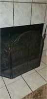 Metal Architectural Fireplace Screen