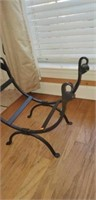 Iron Architectural Fireplace Log Rack Holder