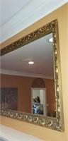Vintage Gold Gilded Wood frame Mirror