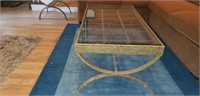 Ornate Metal & Glass Coffe & End Table