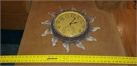 Metal Clock & Thermometer Combo