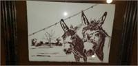 Original Pen & Ink Limited Mule Pitcher Beth