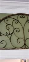 Decorative Metal Half Moon Shaped Wall Decor