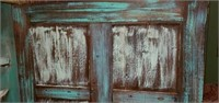 Antique Painted Distressed Storage Cabinet