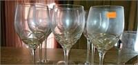 17 pc Romanian Style Crystal Glasses & Ice Bucket