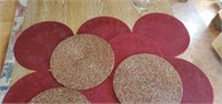 16 Beautiful Round Beaded Placemats & Runner