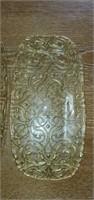 Lot of 3 Beautiful Gold Swirl Glass Trays
