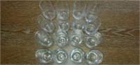 Lot of 16 Crystal Swirl Glasses