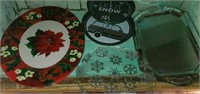 Large Lot of Christmas Platters