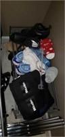 Estate lot of a rack, massager, shoes, shoe holder