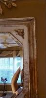 Beautiful Wood Framed Bevelled Glass Mirror