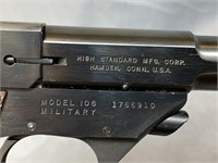 High Standard Model 106 Military Pistol