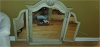 Beautiful Carved Wooden Tri Folding Mirror