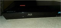 Black Sony BluRay DVD Player and Remote