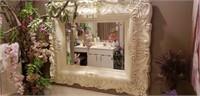 Beautiful plastic framed beveled glass mirror