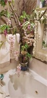Beautiful tall faux tree in plant holder
