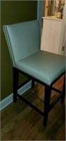Tall Beautiful Ivory Leather Like Barstool Chair