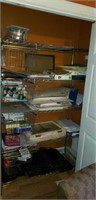 Entire contents of the metal shelf