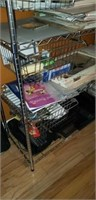 Large metal wire rack with compartments