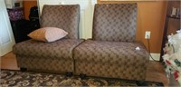 Pair of 2 upholstered chairs