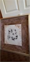 Framed dog portrait #2