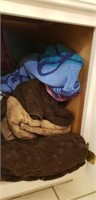 Cabinet full of towels