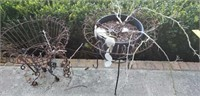 Pair of Metal Hanging Baskets & Floor Stands