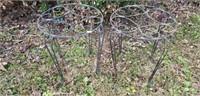Pair of Metal Plantstands
