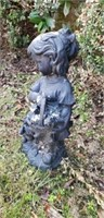 Polyresin Statue of Girl & Puppy
