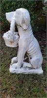 Polyresin statue of Dog & Basket