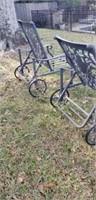 Pair of Aluminium Outdoor Lounge Chairs
